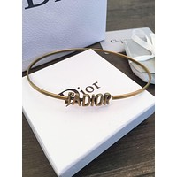 Dior Hot Sale Women Cute Personality Letter Necklace Jewelry Accessories