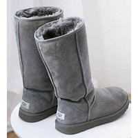 UGG classic wool high boots F Shoes Grey