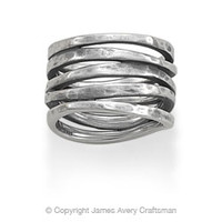 Stacked Hammered Ring from James Avery