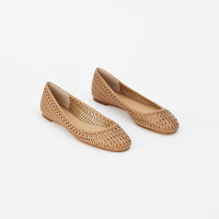 Lynn Leather Ballet Flats | Ann Taylor