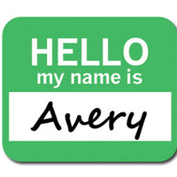 Avery Hello My Name Is Mouse Pad