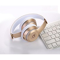 Snug Beats Solo 3 Wireless Magic Sound Bluetooth Wireless Hands Headset MP3 Music Headphone with Microphone Line-in Socket TF Card Slot Gold F