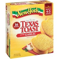 New York Brand Texas Toast with Real Garlic, 16 count, 22.5 oz - Walmart.com