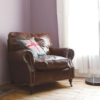 vintage leather armchair by rose & grey | notonthehighstreet.com