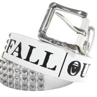Fall Out Boy Pyramid Stud White Faux Leather Belt New Adult (X-Large)