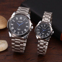 2015 Creative personalized fashion male female leather strap quartz watch couples lovers watches Back in time let time fly back gift = 1929715076