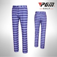 PGM British Style Golf Sportswear Plaid Pants Men's Outdoor Sports Summer Breathable Quick Dry Golf Trousers Plus Size 2XS-3XL