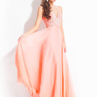 High Neck With Sheer Back Prom Dress By Rachel Allan 6978