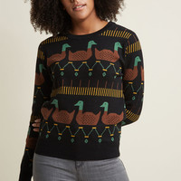Pepaloves Duck and Discover Intarsia Sweater