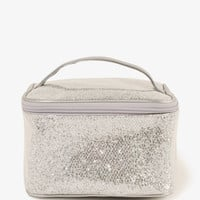 Glittered Mesh Toiletry Bag