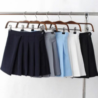 FREE SHIPPING Spring and summer new high-waisted fishtail skirt umbrella skirt tennis skirt student skirt