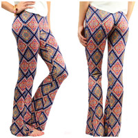 Truth Or Flare Navy Palazzo Pants