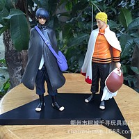 2pcs/set 16cm Naruto Uzumaki Naruto + Uchiha Sasuke Action Figures Anime PVC brinquedos Collection Model toys Free shipping