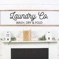 SVG DXF Laundry Co Wash Dry Fold Cut File Cutting File Commercial Use Instant Download Silhouette Studio Cameo Cricut Farmhouse