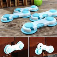 5pcs Set Door Drawers Wardrobe Todder Kids Baby Safety Plastic Lock Pink Blue Cover New product Promotion
