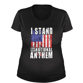 I Stand For Our National Anthem Maternity Pregnancy Scoop Neck T-Shirt