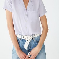 Notched Collar Shirt