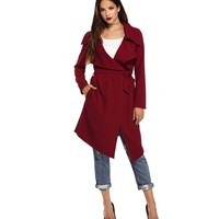 Burgundy Play For Keeps Trench
