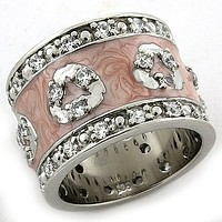 Mens Silver Wedding Ring LOAS1181 Rhodium 925 Sterling Silver Ring with CZ