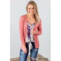 Perfectly Snapped 3/4 Sleeve Cardigan