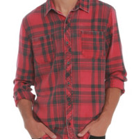 RUDE Red Plaid Woven