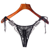 Hot Sexy Women Lace Bandage G-string And Thongs Lady Briefs Knickers Womens Underpanties Underwear Female sexy lingerie &03 GS