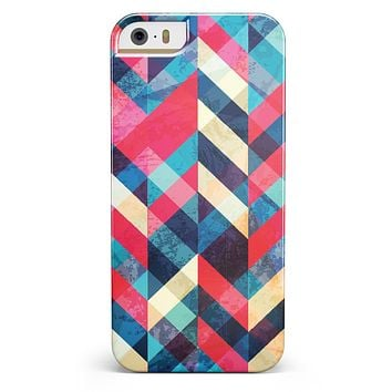 Angled Colored Pattern iPhone 5/5s or SE INK-Fuzed Case