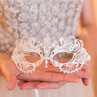 Metallic Filigree Masquerade Mask