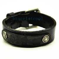 Real Soft Leather Cuff Bracelet,Women Leather Jewelry Bangle Cuff Bracelet Men Leather Bracelet RC6