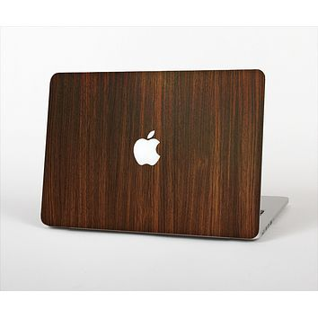 """The Dark Walnut Stained Wood Skin Set for the Apple MacBook Pro 13"""""""