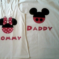 Get A Free Couples Set When You Purchase Two Couples Sets Mickey and Minnie Mommy & Daddy Couples T-Shirts