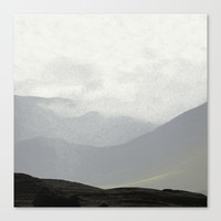 Rannoch Moor - mists and mountains Canvas Print by anipani