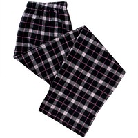 Black and Pink Flannel Women's Pajama Pants