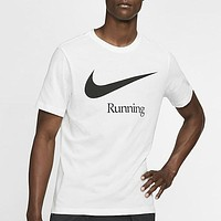 Nike Summer Casual Large Hook Letter Print Loose Round Neck Half Sleeve T-Shirt