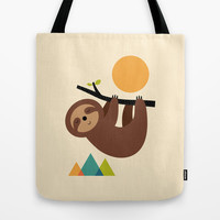 Keep Calm And Live Slow Tote Bag by Andy Westface