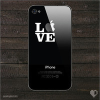 Love apple iPhone Decal