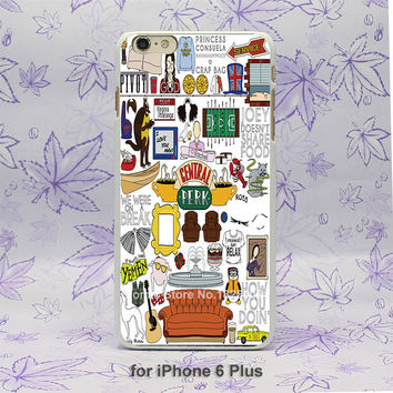 tumblr Friends TV Show Pattern hard White Skin Case Cover for iPhone 4 4s 4g 5 5s 5g 5c 6 6s 6 Plus