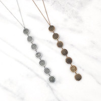 Lariat Coin Necklace Set