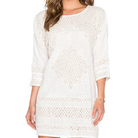 Cotton Slub Desert Song Mini Shift in Ivory
