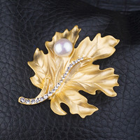 Leaf Pearls Crystal Diamonds Luxury Accessory [4914847364]