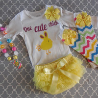 Newborn Girl Take Home Outfit Couture Infant Easter Outfit , Spring, Easter, Baby Shower,4 pieces, New Baby Gift