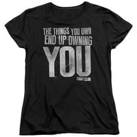 FIGHT CLUB/OWNING YOU-S/S WOMEN'S TEE-BLACK-LG