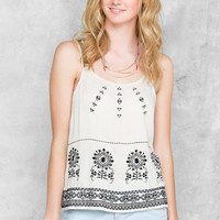 Dominica Embroidered Tank