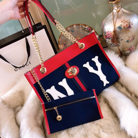 GUCCI Rajah medium tote with NY Yankees™ patch