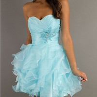 2013 New Short Strapless Prom Dress