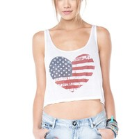 Brandy ♥ Melville |  Mirella Flag Heart Tank - Graphics