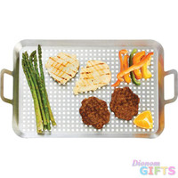 SS BBQ GRILL TRAY - LARGE