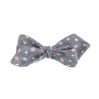 Chambray bow tie in floral print - ties & pocket squares - Men's new arrivals - J.Crew