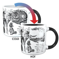 Disappearing Cheshire Cat Heat Activated Coffee Mug