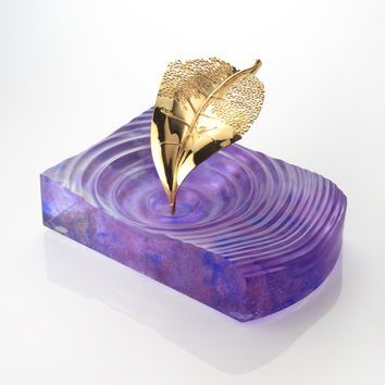 Amethyst Fallen Leaf Centre Piece & Ashtray - SOLD OUT